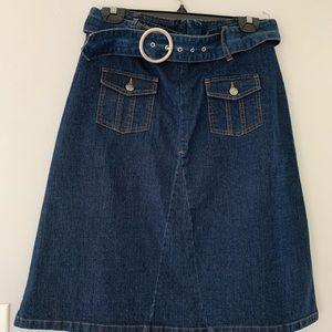 Vintage Cherokee Denim Skirt with Denim Belt